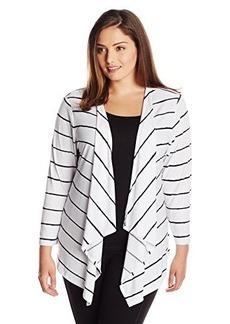 Jones New York Women's Plus-Size 3/4 Sleeve Open Cardigan Sweater