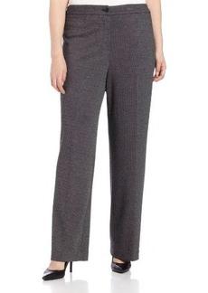Jones New York Women's Plus-Size Button Front Pant No Pockets
