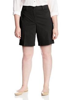 Jones New York Women's Plus-Size Cuff Tab Short