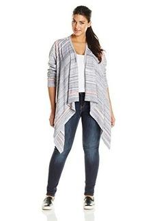 Jones New York Women's Plus-Size Drape Front Cardigan