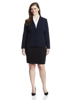 Jones New York Women's Plus-Size Emma Solid Seasonless Stretch Waist Seam Jacket