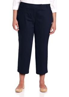 Jones New York Women's Plus-Size Extend Tab Crop Pant