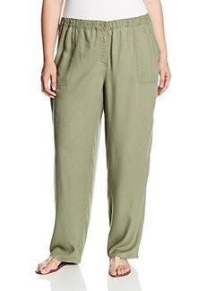 Jones New York Women's Plus-Size Full Length Pant with Elastic