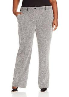 Jones New York Women's Plus-Size Jflare Tweed Ponte Pant