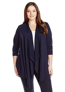 Jones New York Women's Plus-Size Long Sleeve Drape Front