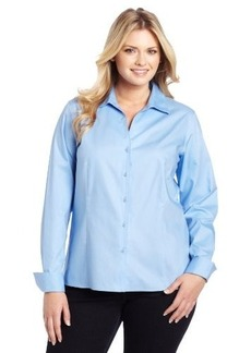 Jones New York Women's Plus-Size Long Sleeve No-Iron Easy Care Blouse