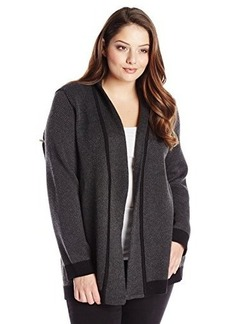 Jones New York Women's Plus-Size Long Sleeve Open Cardigan