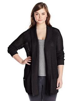 Jones New York Women's Plus-Size Long Sleeve Open Front Cotton Cardigan