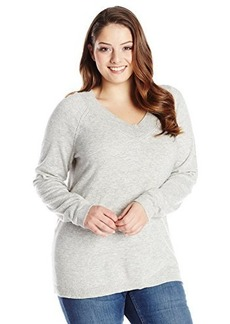 Jones New York Women's Plus-Size Long Sleeve V-Neck Pullover