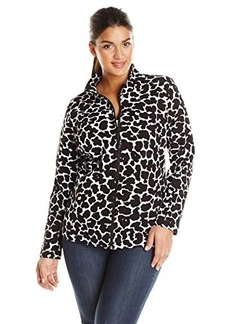 Jones New York Women's Plus-Size Mock Neck Jacket