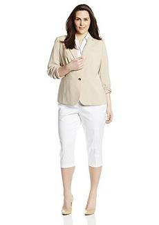 Jones New York Women's Plus-Size Olivia Soft Suiting 2 Button Jacket