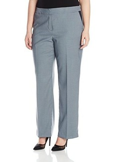Jones New York Women's Plus-Size Pants with Faux Leather Inset Pockets