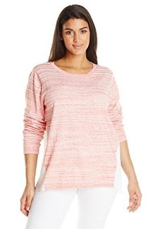 Jones New York Women's Plus-Size Pleated Back Pullover