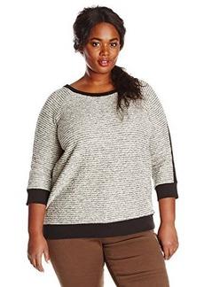 Jones New York Women's Plus-Size Raglan Pullover