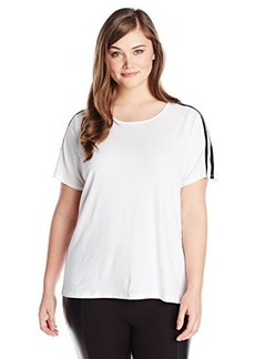 Jones New York Women's Plus-Size Short Sleeve Crew Neck