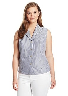Jones New York Women's Plus-Size Sleeveless Blouse