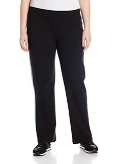 Jones New York Women's Plus-Size Track Stripe Pant Black