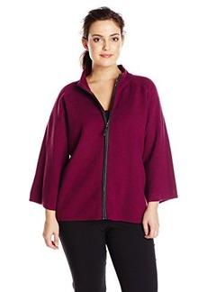 Jones New York Women's Plus-Size Zip Front Swing Jacket