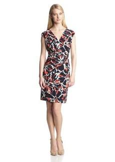 Jones New York Women's Printed Cap-Sleeve Dress