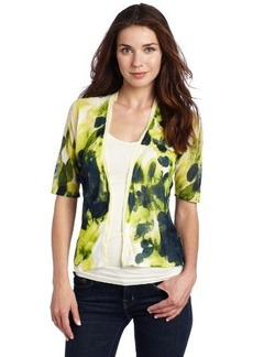 Jones New York Women's Printed Cardigan Sweater