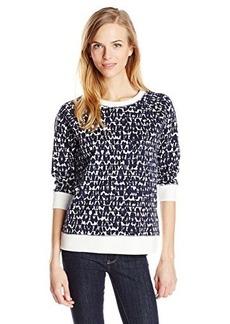 Jones New York Women's Printed Raglan Pullover