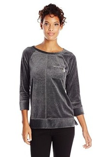 Jones New York Women's Raglan Sleeve Pullover with Pocket
