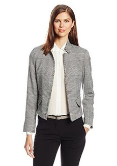 Jones New York Women's Raw Edge Tweed Blazer