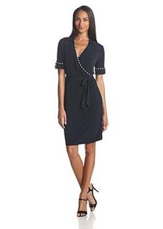Jones New York Women's Rolled Sleeve Belted Dress