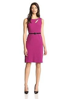 Jones New York Women's Sleeveless Belted Sheath Dress