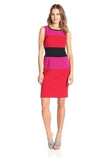 Jones New York Women's Sleeveless Color Block Dress
