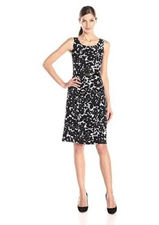 Jones New York Women's Sleeveless Floral-Print Fit-and-Flare Dress