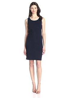 Jones New York Women's Sleeveless Navy Crew Neck Dress