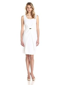 Jones New York Women's Sleeveless Pleated Waist Dress