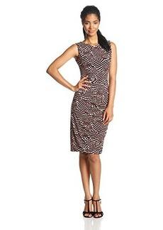 Jones New York Women's Sleeveless Printed Dress