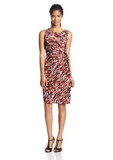 Jones New York Women's Sleeveless Side-Tie Print Dress