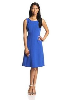 Jones New York Women's Sleeveless Solid Swing Dress