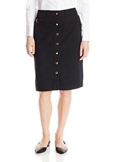 Jones New York Women's Snap Front Pencil Skirt