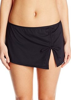 Jones New York Women's Solid String Side Swim Skirt