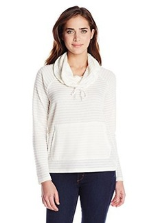 Jones New York Women's Stripe Cowl-Neck Sweater