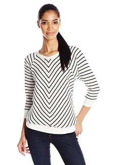 Jones New York Women's Stripe Raglan Pullover