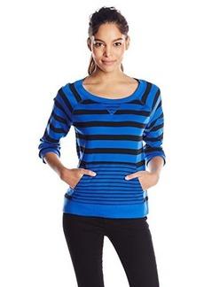 Jones New York Women's Stripe Raglan Sleeve Pullover