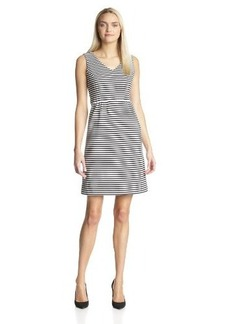 Jones New York Women's Striped Knit Sleeveless Dress