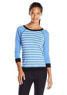 Jones New York Women's Striped Raglan Pullover