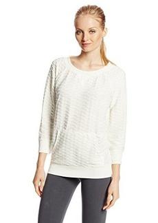 Jones New York Women's Textured Raglan Pullover