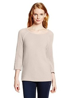 Jones New York Women's Textured Raglan-Sleeve Pullover Sweater