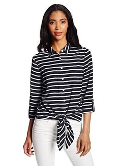 Jones New York Women's Tie Front Blouse