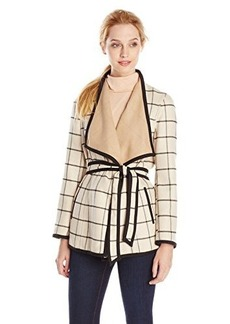 Jones New York Women's Tie Waist Wrap Jacket