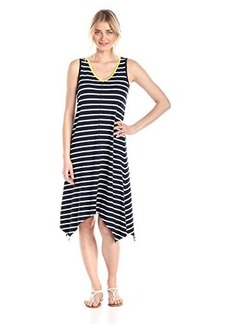 Jones New York Women's V-Neck Keyhole Dress