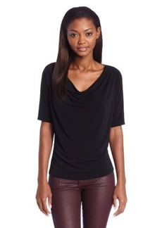 Jones New York Women's Vivian ITY Elbow Sleeve Drape Neck
