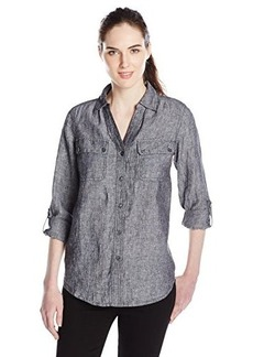 Jones New York Women's Y Neck Easy Shirt